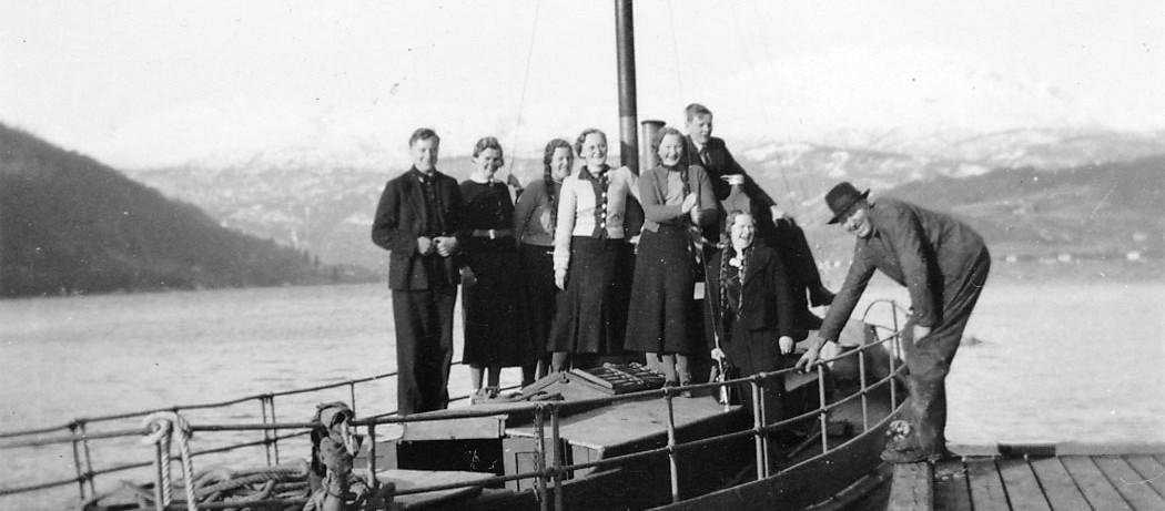 På tur med båten til Fredrik Moss.