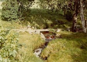 Vaskeplassen i tunet hos Lars Johan Omvik